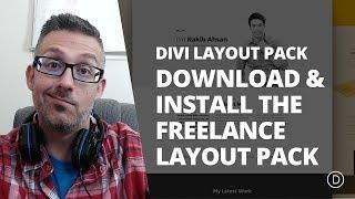 Download & Install the Free Divi Freelance Layout Pack