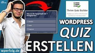 ᐅ TUTORIAL: WordPress QUIZ ERSTELLEN für mehr Leads, bessere Rankings..ᐅBESTES WordPress Quiz PLUGIN