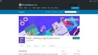 How To Install Pollen WordPress Plugin - WPBakery Free Addons