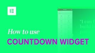 How to Add a Countdown Timer to WordPress with Elementor