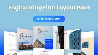 Get a FREE Engineering Layout Pack for Divi