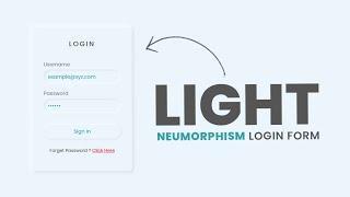 Convert Dark To Light Mode Neumorphism Login Form UI | Html CSS Login Form