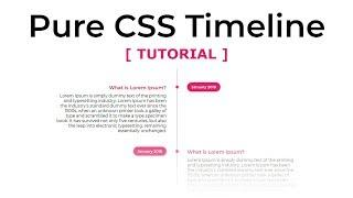 Pure Html and CSS vertical Timeline Design - How To Create a Timeline  - Tutorial