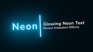 Glowing Neon Light Text Reveal Animation Effects   Html CSS