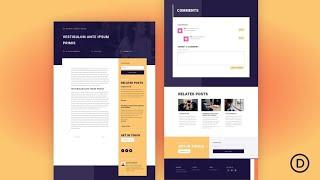 Download a FREE Blog Post Template for Divi's PR Firm Layout Pack