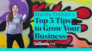 Maddy Osman's Top 5 Tips to Grow Your Business - WordCamp Denver - GoDaddy Pro