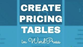 WordPress Pricing Table: 5 Easy Steps To Create A Pricing Table