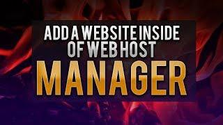 How To Add A Website Inside Of Web Host Manager