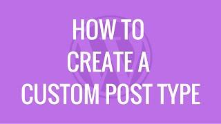 How to create a custom post type using Easy Content Types