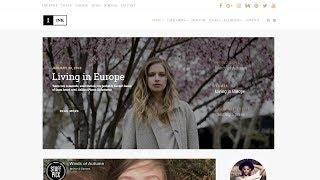 Ink Blog WordPress Theme Home-Page Presentation