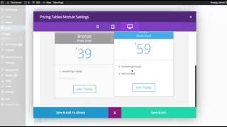 The Divi Builder Pricing Table Module