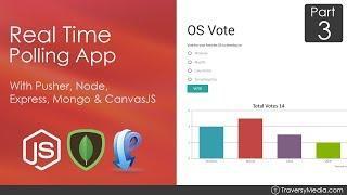 Node.js & Pusher Real Time Polling App [3] - MongoDB & Mongoose