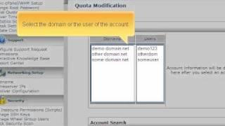 How to adjust diskspace quotas in WHM