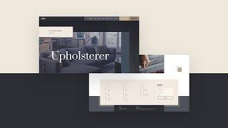Download a FREE Header and Footer Template for Divi's Upholstery Layout Pack
