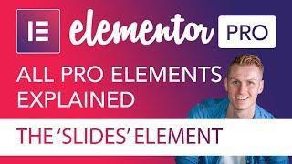 Slides Element Tutorial | Elementor Pro