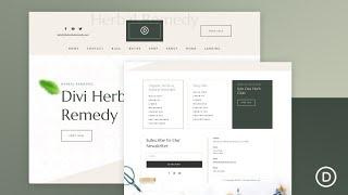 Get a FREE Header and Footer for Divi's Herbal Remedy Layout Pack