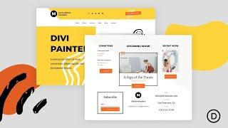 Download a FREE Header and Footer for Divi's Painter Layout Pack