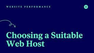 [04] Choosing a Suitable Web Host