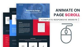 Animation On Page Scroll   How to build a Complete Responsive Website from scratch