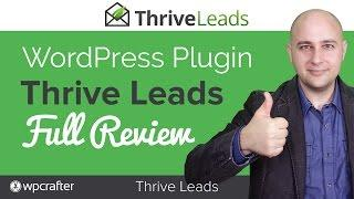 Thrive Leads Review WordPress Optin Popup Builder By Thrive Themes