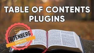 Table of Contents Plugins for WordPress + Gutenberg | A Tale of Two Plugins