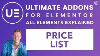 Ultimate Addons Elementor | Price List