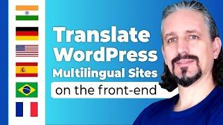 Translate WordPress Multilingual Site with TranslatePress on the Front-End