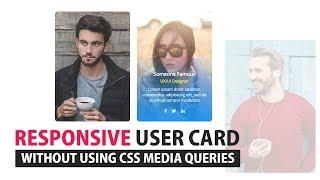 Responsive User Card UI Design Without Using Media Quries - CSS Responsive Grid layout