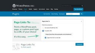 How To Make WordPress Pages or Posts Links To Custom URLs?