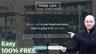 How-to Make A WordPress Website 2016 In 60 Minutes -  Business or Restaurant, Create Build Develop