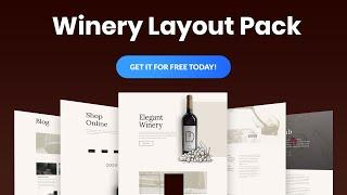 Get a FREE Winery Layout Pack for Divi