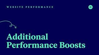 [03] Additional Performance Boosts