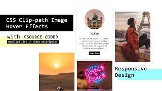 CSS Clip-path Image Hover Effects With Source Code   Html CSS