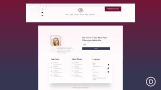 Get a FREE Header and Footer for Divi's Dietitian Layout Pack