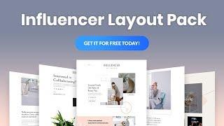 Get a FREE Influencer Layout Pack for Divi