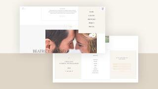 Download a FREE Header & Footer Template for Divi's Wedding Photographer Layout