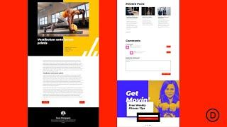 Get a FREE Blog Post Template for Divi's Fitness Coach Layout Pack