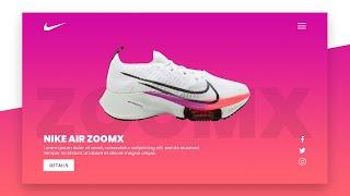 Simple Nike Shoe Responsive Landing Page Design using Html CSS Only   Website Design