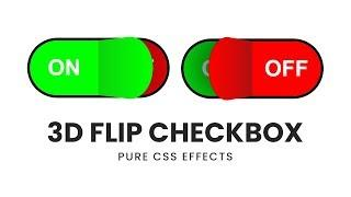 CSS 3D Flip Checkbox   Html CSS Custom Checkbox