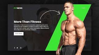 Fitness Gym Website Design   Complete Responsive Landing Page UI Design using Html5 & CSS3