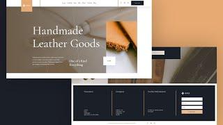 Get a FREE Global Header and Footer Template for Divi's Leather Company Layout Pack