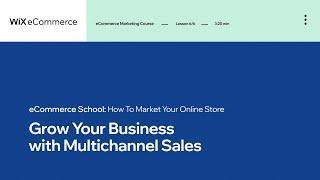 Lesson 6 | Multichannel Sales | Marketing Your Online Store | Wix eCommerce